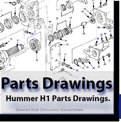 Hummer H1 Parts Drawings